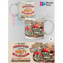 Taza Harley Davidson Motorcycles Addicted
