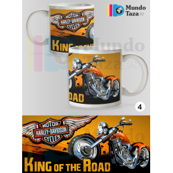 Taza Harley Davidson Motorcycles King of the road