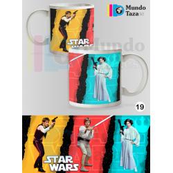 Taza Star Wars - Han Leia luke