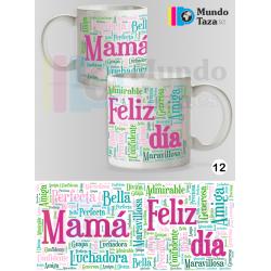 Taza Mama Feliz Día Verde