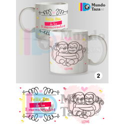 Taza LOVE Monitos