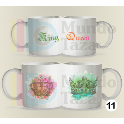 Tazas King Queen - Pack Duo