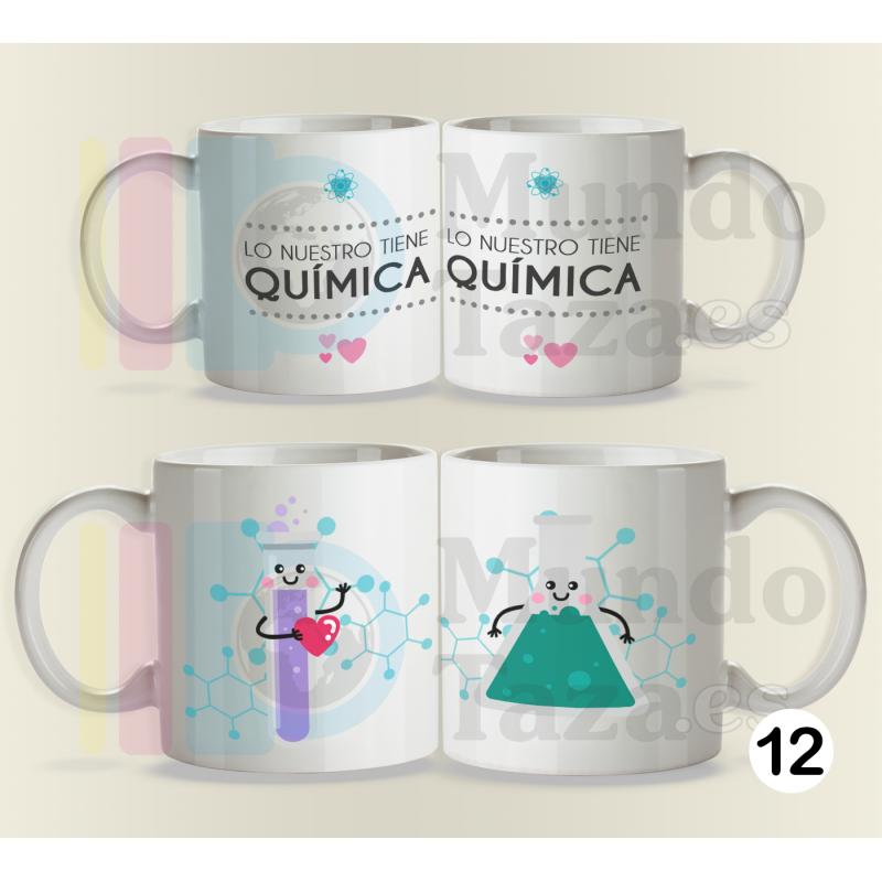 Tazas Lo Nuestro Tiene Quimica Pack Duo Mundo Taza La Tienda De Las Tazas Originales