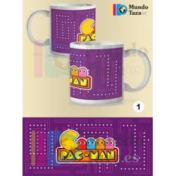 Taza Pacman Morada
